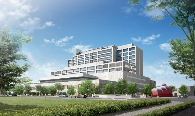 新病院の完成イメージ図