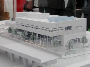 山下地区交流センター完成模型