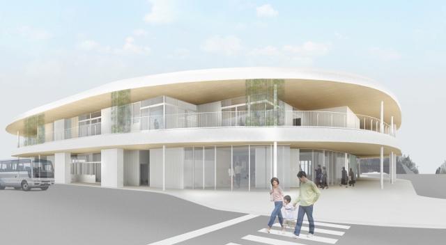 南西から見た新庁舎外観イメージ