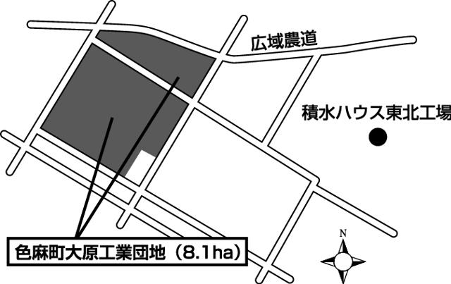 色麻町大原工業団地周辺図