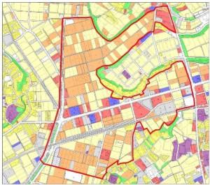 区画整理事業の施行予定範囲
