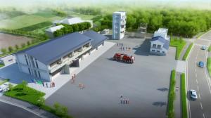 湖北分署と総合訓練施設の整備イメージ
