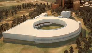 次世代放射光施設の完成予想パース
