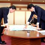 通常予算の確保要望 高田東北整備局長と懇談(村井知事)