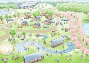 提案されたキャンプサイトのイメージ
