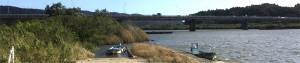 補修する新飯野川橋