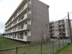 整備予定地に残る旧県教職員住宅