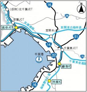 湾岸地区の位置図