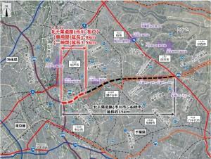 北千葉道路(市川・松戸)の位置図