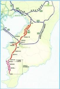 富津館山道路の位置図