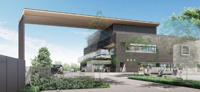 (仮称)佐倉図書館等新町活性化複合施設・外観パース