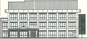 新庁舎の北側立面図