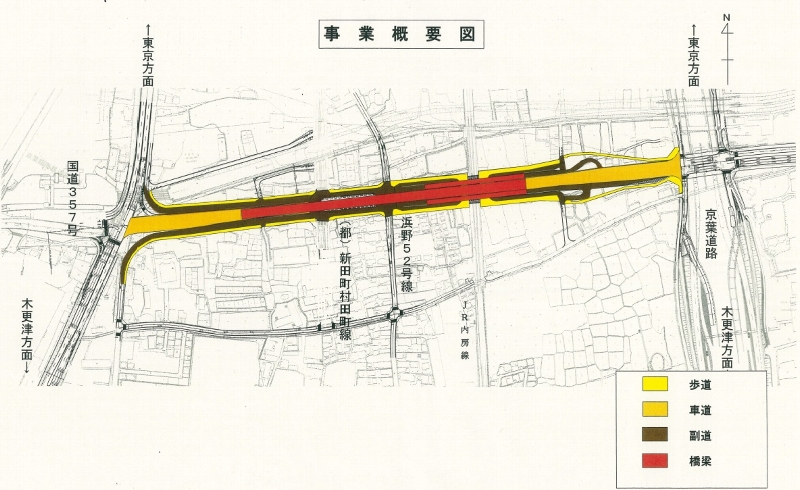 塩田町誉田町線(塩田町地区の事業概要図)