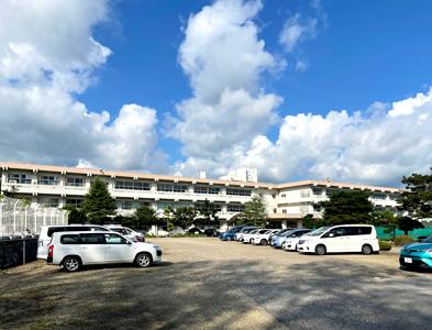 統合校として活用する古川西中学校