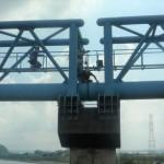 水管橋を点検・調査 修繕など対策検討 (県営水道)